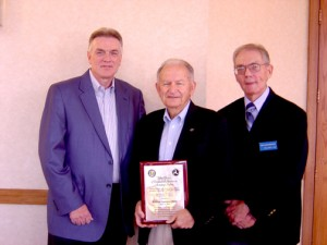 (L/R) Barry Cooper, Bill Blake, and FAA Great Lakes Safety Team Manager, Bill Law.