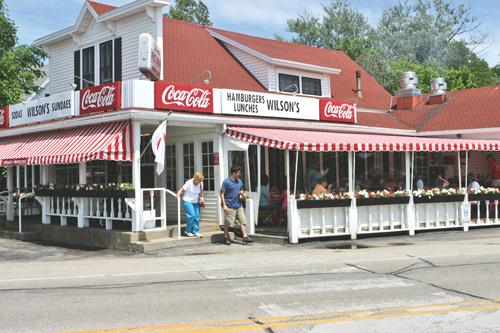 Wilsons Restaurant Ice Cream Ephraim Midwest Flyer