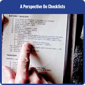 A Perspective On Checklists