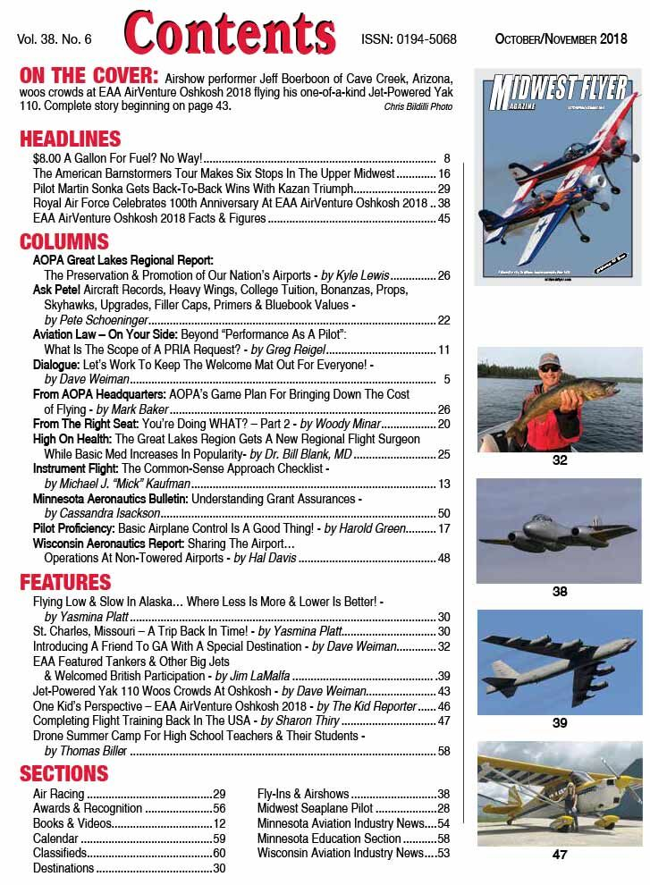 Midwest Flyer Magazine Contents - Apr/May