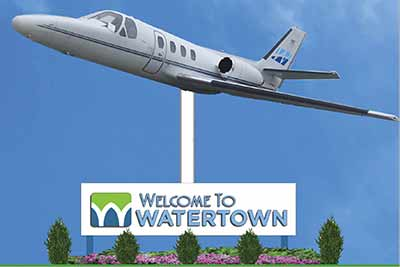 f8c12fc8d33 A Cessna Citation symbolizes the impact general aviation has had on the  local economy in Watertown